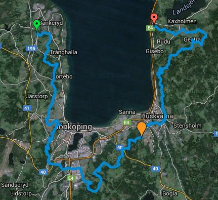 Kartor till VätterVyernas Ultra Trail