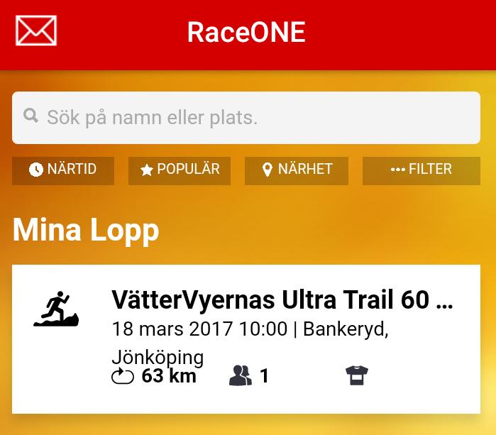 VätterVyernas Ultra Trail i samarbete med RaceONE